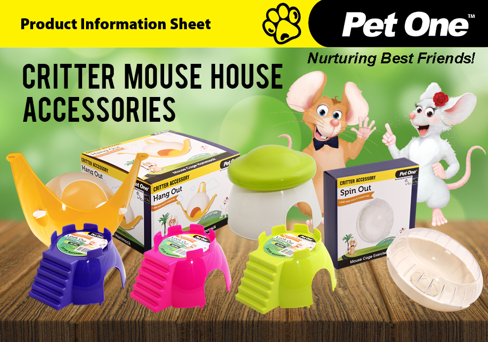 Critter Mouse House Accessories