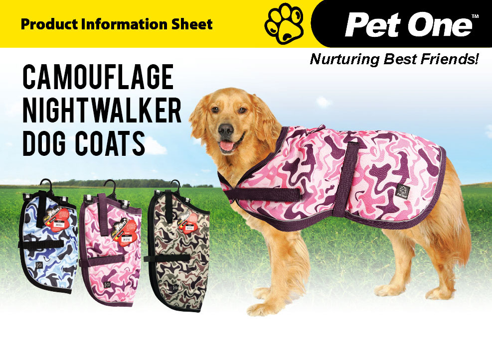 NightWalker Dog Coat Camouflage