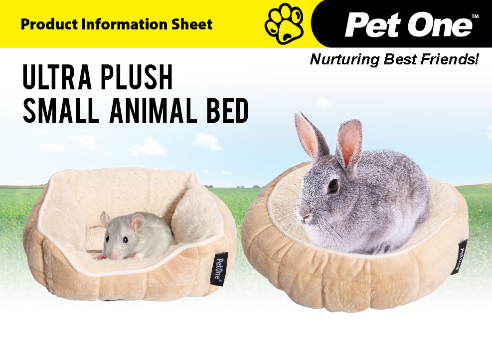 Ultra Plush Small Animal Bed