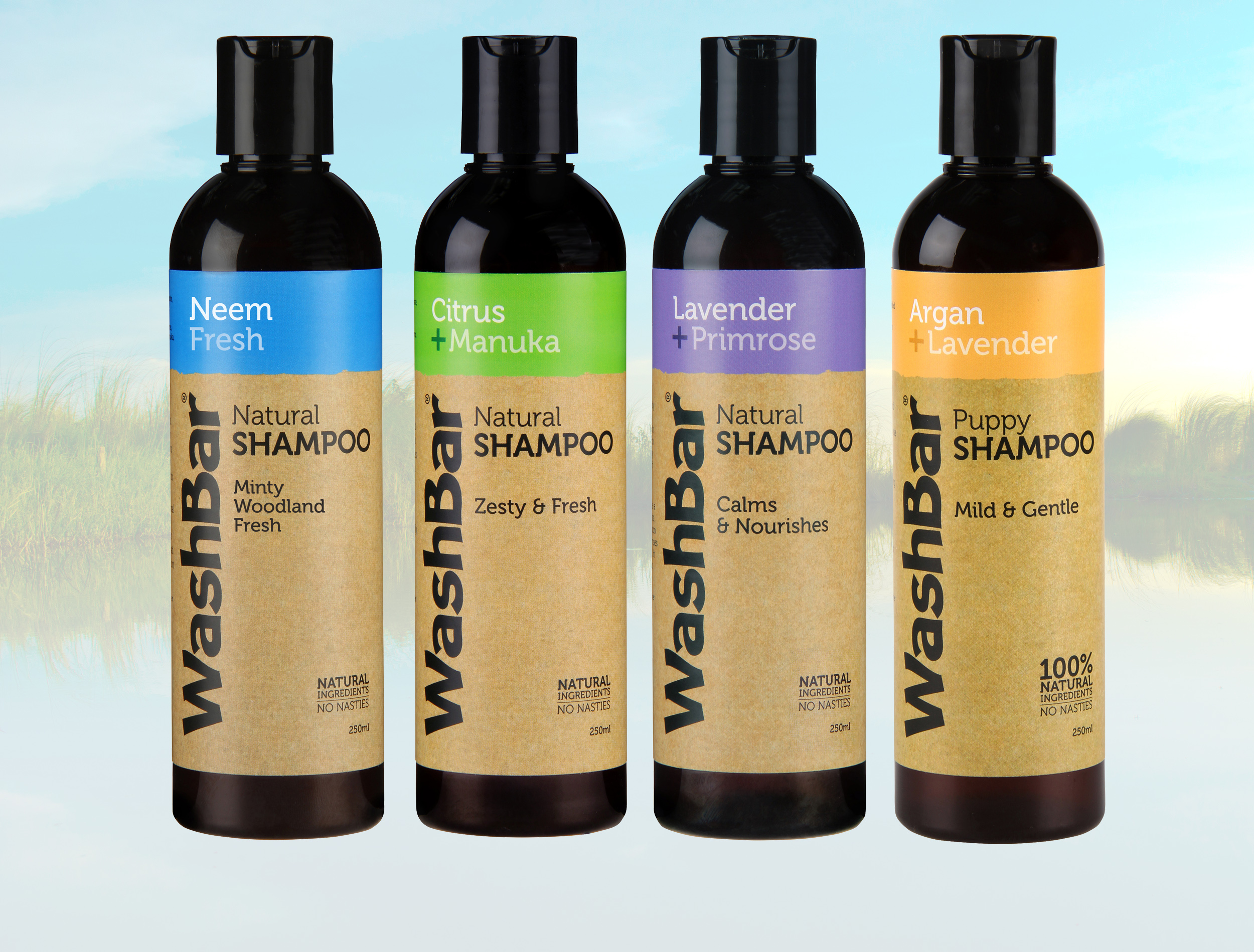 Natural Shampoo Range