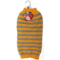 Coat Dog Komfyknit Striped 55cm Grey/Orange