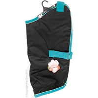 Coat Dog NightWalker Waterproof Reflective 80cm Black/Aqua
