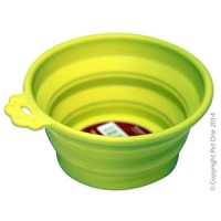 Bowl Silicone Round Travel Bowl S 370ml Lime Green