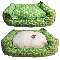 Bedding Square 60 x 50 x 17cm Summer - Green