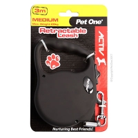 Leash Retractable 3m 20kg and under Black