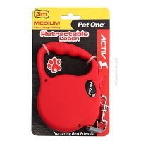 Leash Retractable 3m 20kg And Under Red