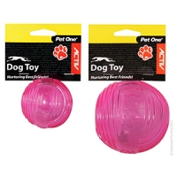 Dog Toy Activ TPR Ball Pink Small 6cm