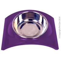 Bowl Melamine/SS Slim Style Single S Purple