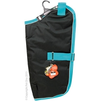 Coat Dog NightWalker Waterproof Reflective 55cm Black/Aqua