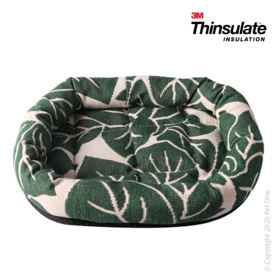 Warmzone Small Animal Bed Lounger Tropical Leaf
