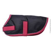 Coat Dog NightWalker Waterproof Reflective 70cm Black/Red