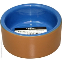 Bowl Terracotta/Blue Glazed 8.7cm Dia 185ml
