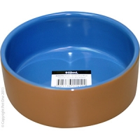 Bowl Terracotta/Blue Glazed 15.2cm Dia 950ml