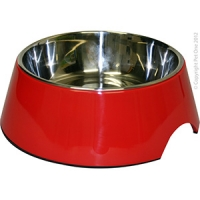 Bowl Round 700ml Melamine/SS Red