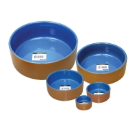 Bowl Terracotta/Blue Glazed 22.5cm Dia 2900ml