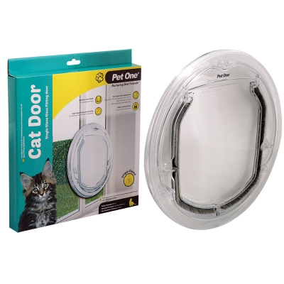 Polycarbonate Cat Door For Single Glaze Glass Fitting Doors