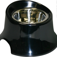Bowl Round Tall 250ml Melamine/SS Black