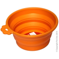 Bowl Silicone Round Travel Bowl S 370ml Orange