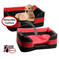 Bed Stay Dry Basket 62x45x25cm Black & Red