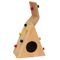 Mouse Playhouse Climbing Wall Wood 12 x 7.5 x 21cm