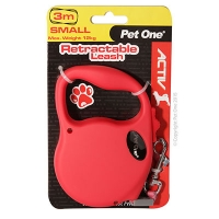Retractable Leash 3M 12kg And Under (Red)