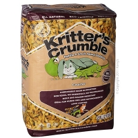 Kritter's Crumble Organic Bedding Substrate COARSE 20L