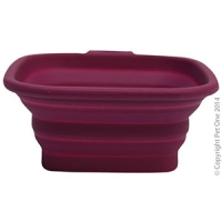 Bowl Silicone Square Travel Bowl S 420ml Burgundy