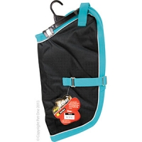 Coat Dog NightWalker Waterproof Reflective 35cm Black/Aqua