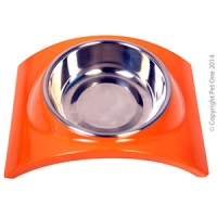 Bowl Melamine/SS Slim Style Single M Orange