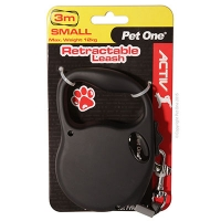 Retractable Leash 3M 12kg And Under (Black)