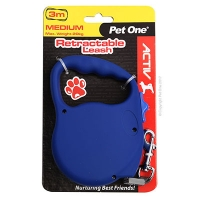 Leash Retractable 3m 20kg and under Blue