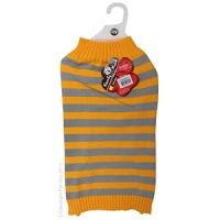 Coat Dog Komfyknit Striped 50cm Grey/Orange