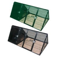 Rabbit Cages Tri Black (100 x 47.5 x 41.5cm) - Metal (R530)