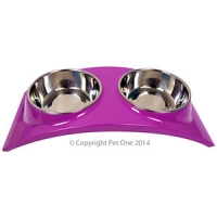 Bowl Melamine/SS Slim Style Double Dinner S Purple