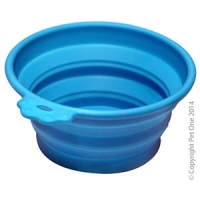 Bowl Silicone Round Travel Bowl S 370ml Blue