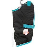Coat Dog NightWalker Waterproof Reflective 75cm Black/Aqua