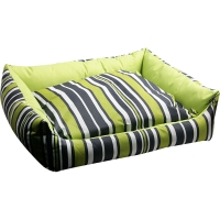 Bedding Rectangular 65 X 55 X 17.5cm Summer Striped Green