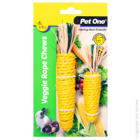 Veggie Rope For Small Animals Twin Pack - Corns (S,M)