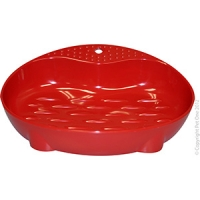 Bowl Cat Dish Feeder 90ml Melamine Red