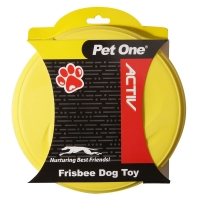 Dog Toy Activ Rubber Frisbee 21.5cm Dia Yellow