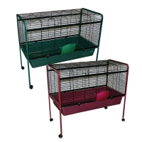 Rabbit Hutch 105 x 53.5 x 90.5cm With Wheels Green