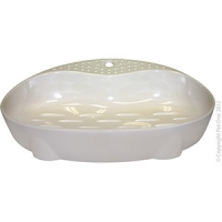 Bowl Cat Dish Feeder 260ml Melamine White