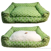 Bedding Square 80 x 70 x 19cm Summer - Green