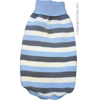 Coat Dog Komfyknit Jumper Striped Blue 40cm
