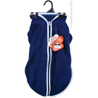 Coat Dog JumpSuit Heavy Fleece Zip Up 45cm Blue