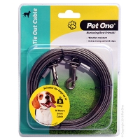 Tie-Out Cable 10M 3mm Suit Dogs Up To 15kg