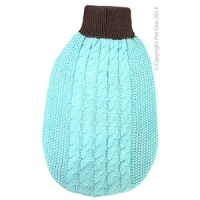 Coat Dog Komfyknit Jumper Turquoise\Grey 55cm