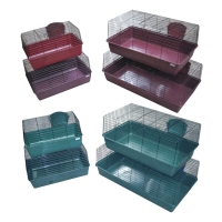 Rabbit Cages Set Of 4 Size (60/69/84.5/101.5cm L) Wine Red