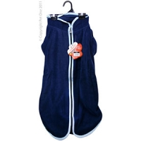 Coat Dog JumpSuit Heavy Fleece Zip Up 65cm Blue