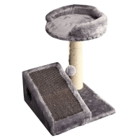 Scratching Tree With Ramp And Ball 35x35x42cm (grey)